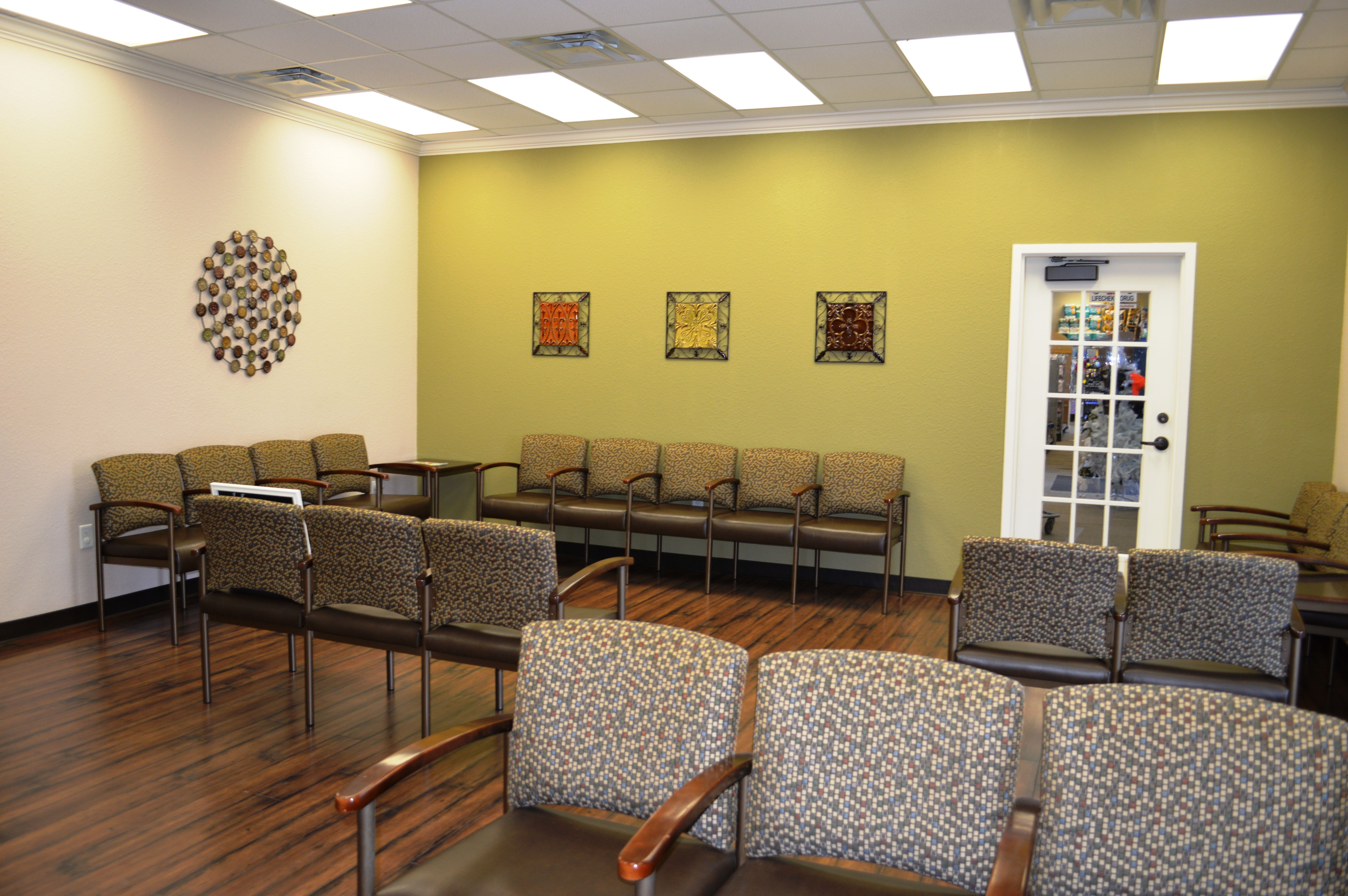 Get treated not seated at our new urgent care center in