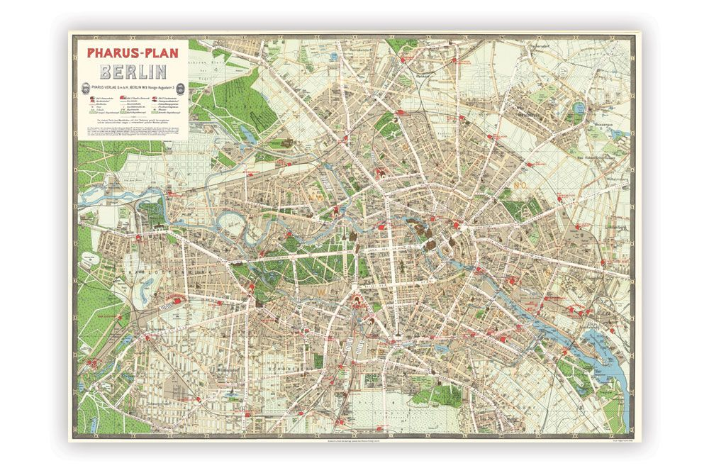 Map of Berlin Wrapping Paper | map | Pinterest | Map, Berlin and Paper