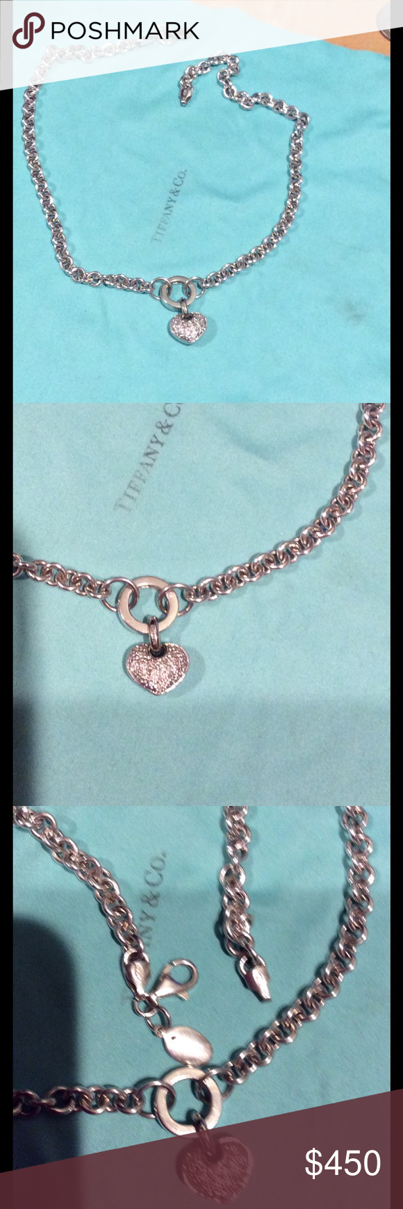 Heart Diamond Pendant in Sterling silver Chain Bought in Jared