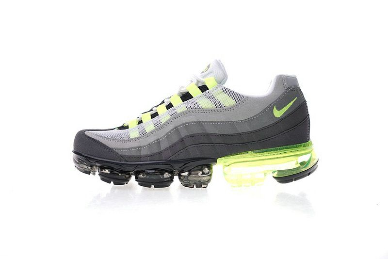 the latest a068b 4ae84 Real Nike Air Max 95 Vapormax Neon 554970 071 Aj4970 071 Volt Medium Ash  Dark Pewter