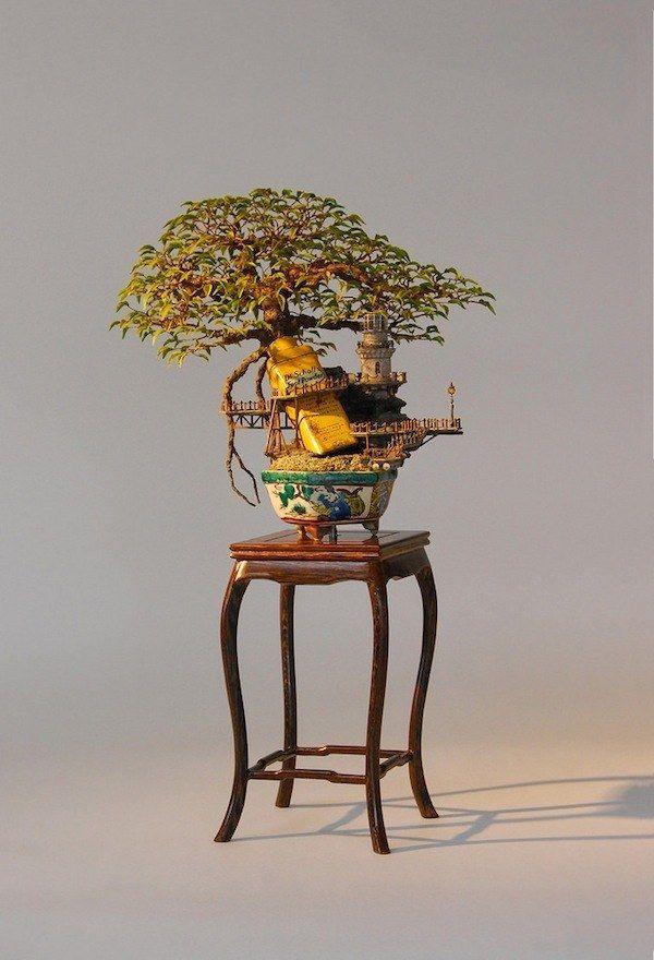 ジブリでファイナルファンタジーな盆栽アートが幻想的すぎる   IDEA HACK