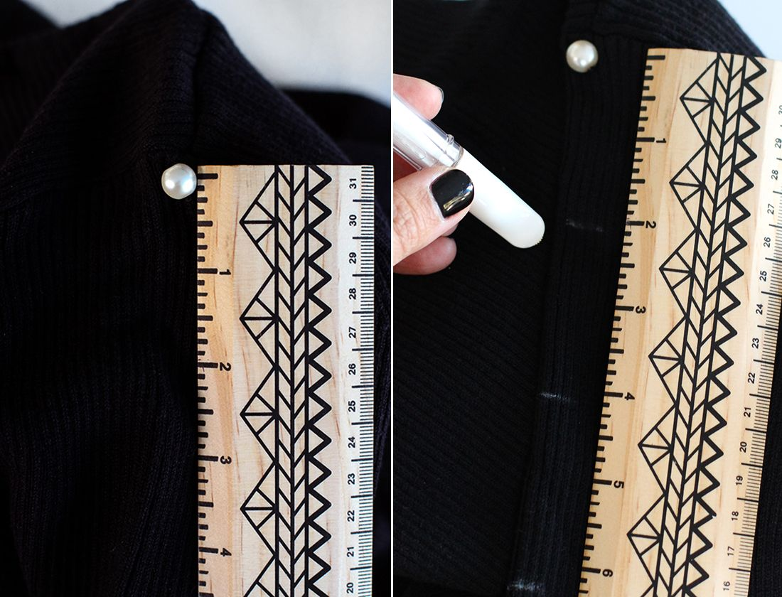 This DIY Pearl Studded Turtleneck Is a Winter Win via Brit + Co
