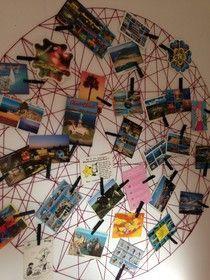 Fotos Aufhängen Kreativ : diy postkarten aufbewahrung postkarten collage w nde fotos aufh ngen ~ Watch28wear.com Haus und Dekorationen