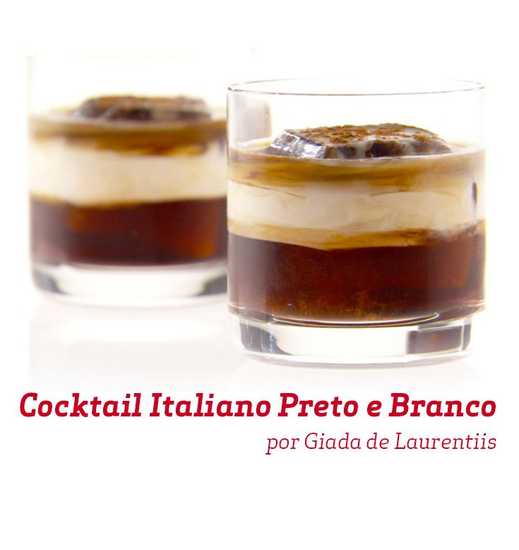 Cocktail Italiano Preto E Branco Receita Food Network
