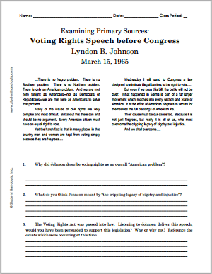 Lyndon B. Johnson\'s Voting Rights Speech before Congress - March ...