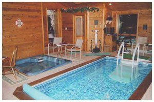 Indoor Pool And Hot Tub In A Single Family Home. Sweet!