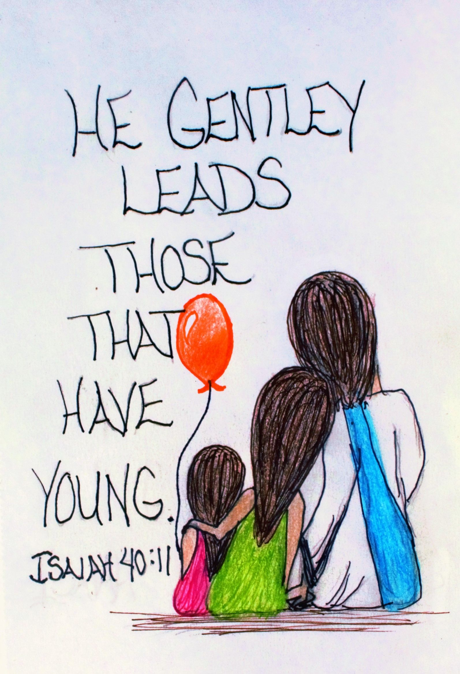 He gently leads those that have young.\