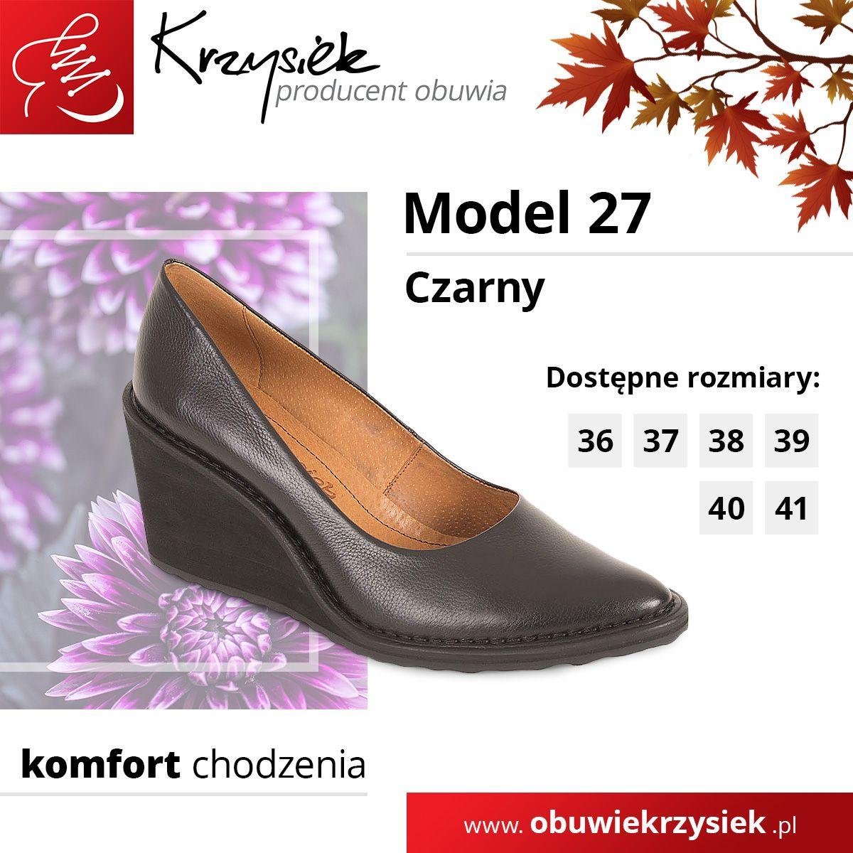 Polbuty Damskie Model 27 Czarne Loafers Shoes Fashion