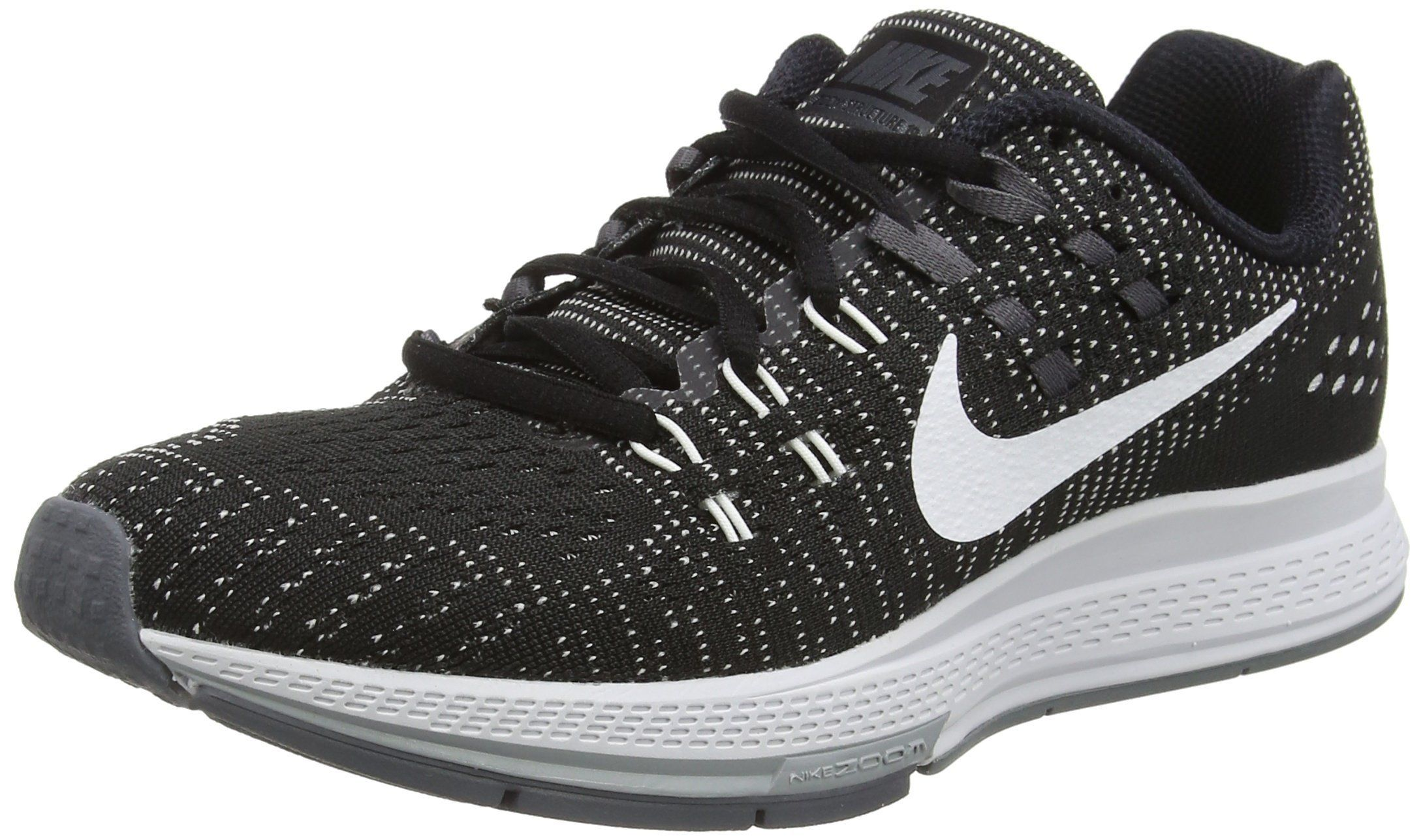 90356e5e891 Nike Air Zoom Structure 19 Running Shoe - Womens Black Dark Grey Cool  Grey White