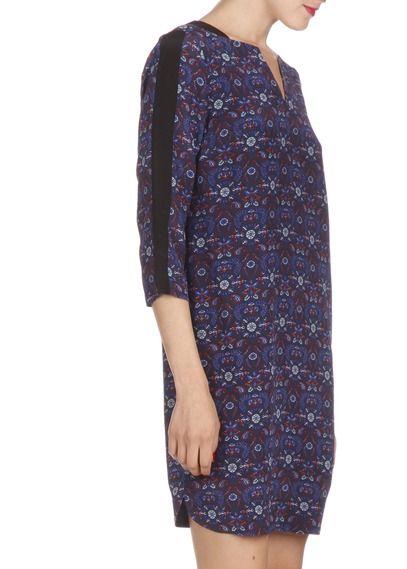 Robe en soie imprimé baroco Violet by EKYOG