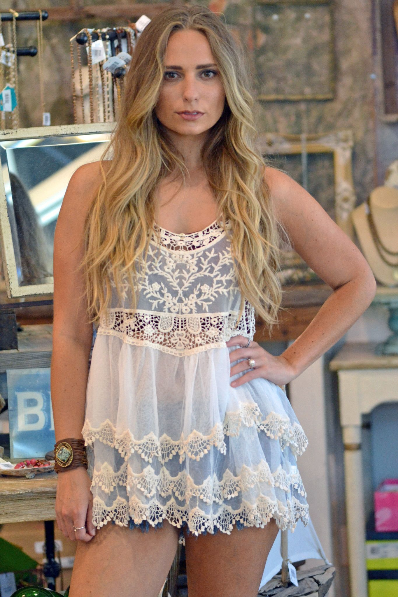 Lace & Tulle Tank