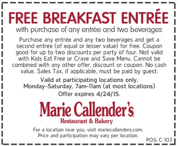 photo about Marie Callender Coupons Printable named Pinned April 22nd: Moment breakfast cost-free at #Marie
