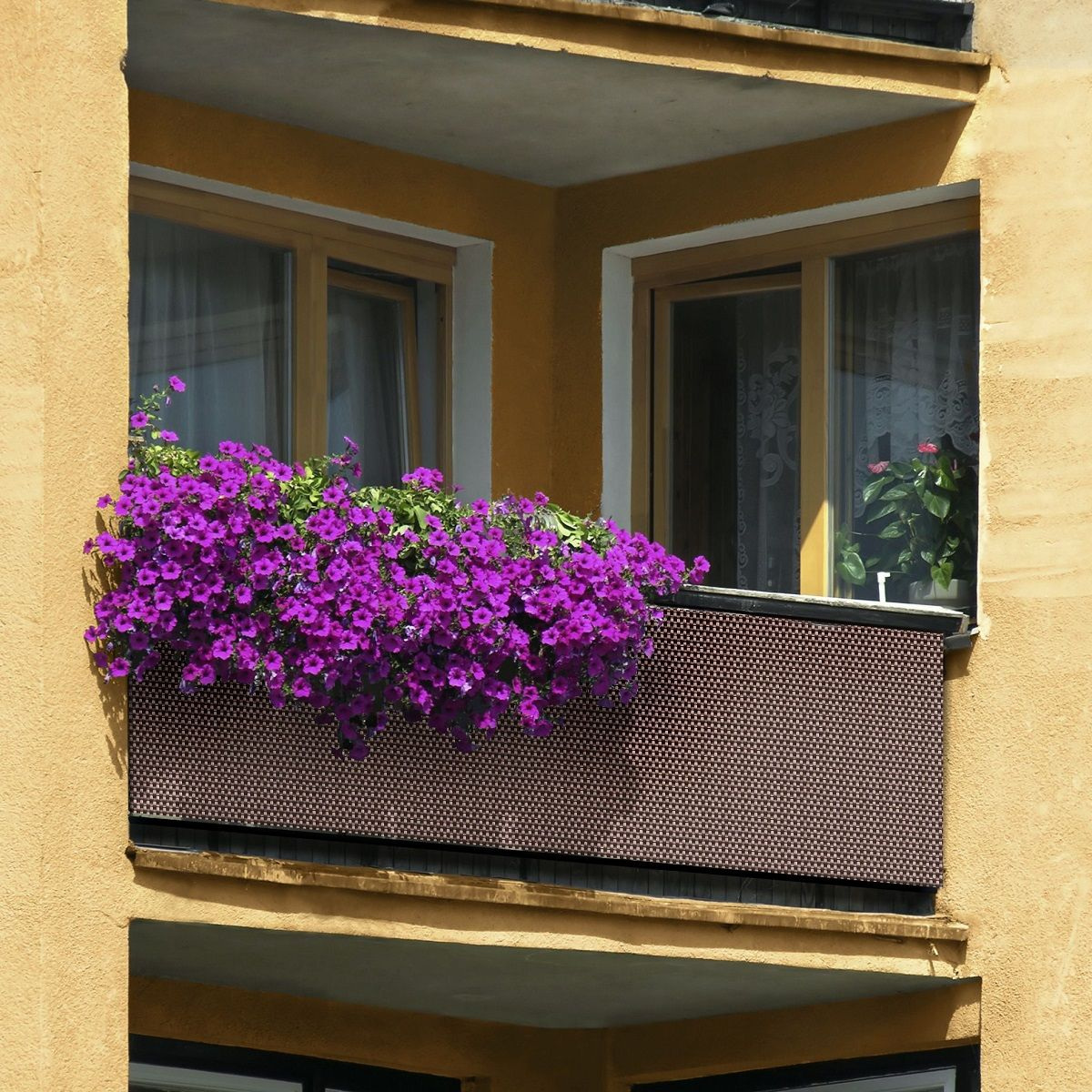 Balkonblende 0 9m Br Meterware Sichtschutz Aus Pe Rattan