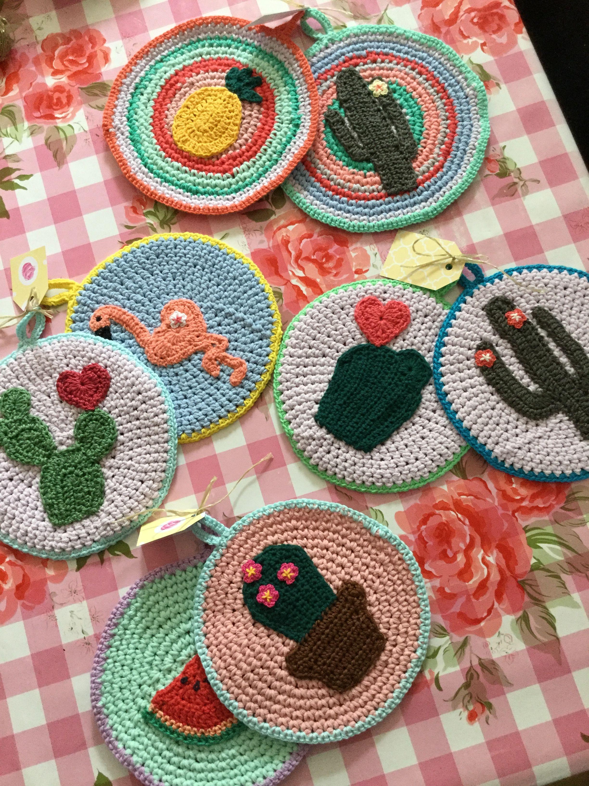 Crochet Potholders cactus | Crochet | Pinterest | Topflappen ...