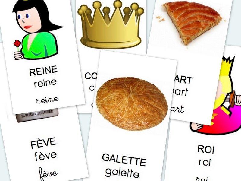 C'est de saison, limite un peu tard, voici un imagier des flashcards, mots-images, pour travailler le vocabulaire de la galette et de la fête des rois et des reines. Cela fait relativement peu de mots, …