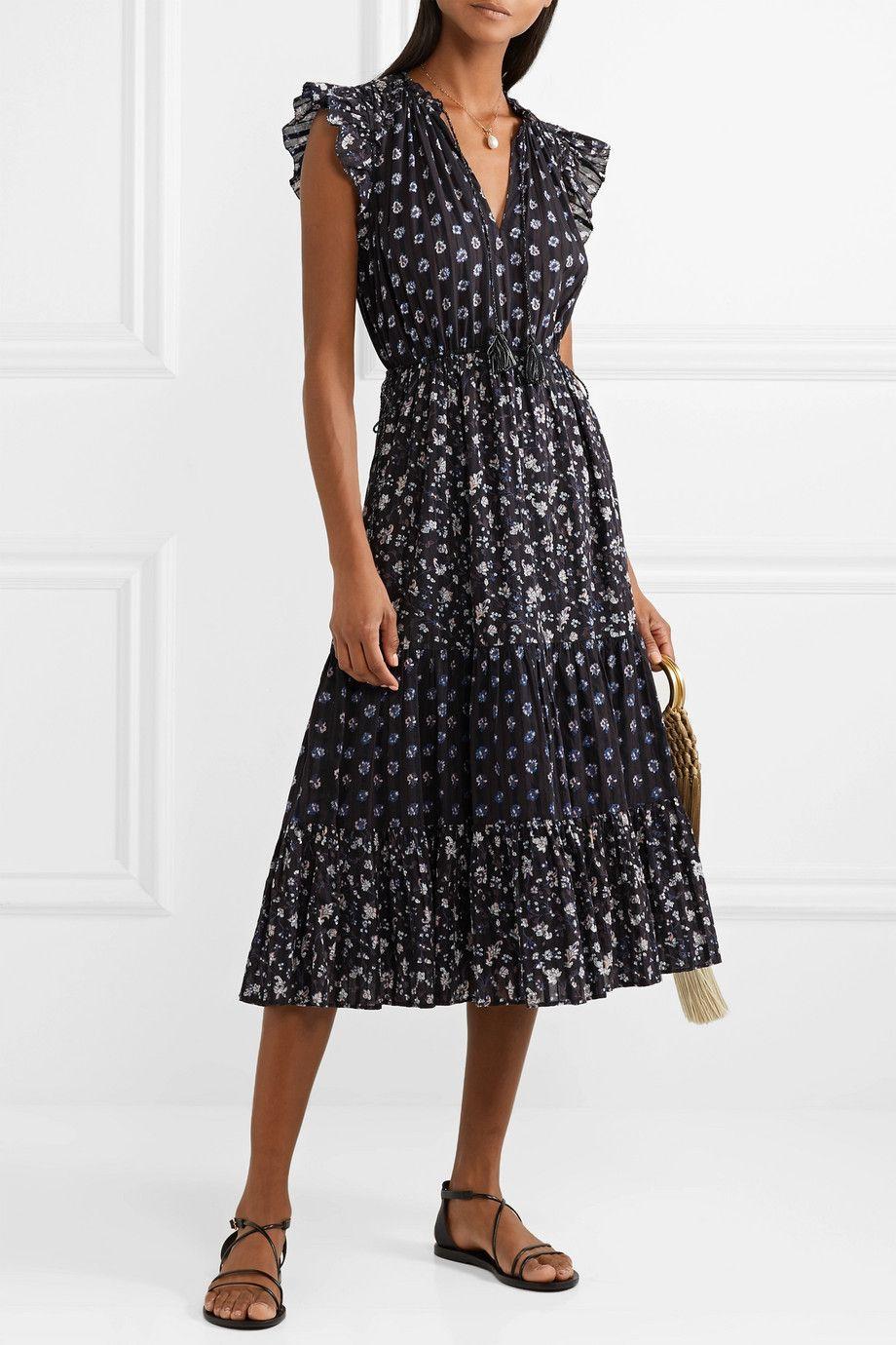 99692854e245 Ulla Johnson | Benita floral-print cotton-gauze midi dress |  NET-A-PORTER.COM