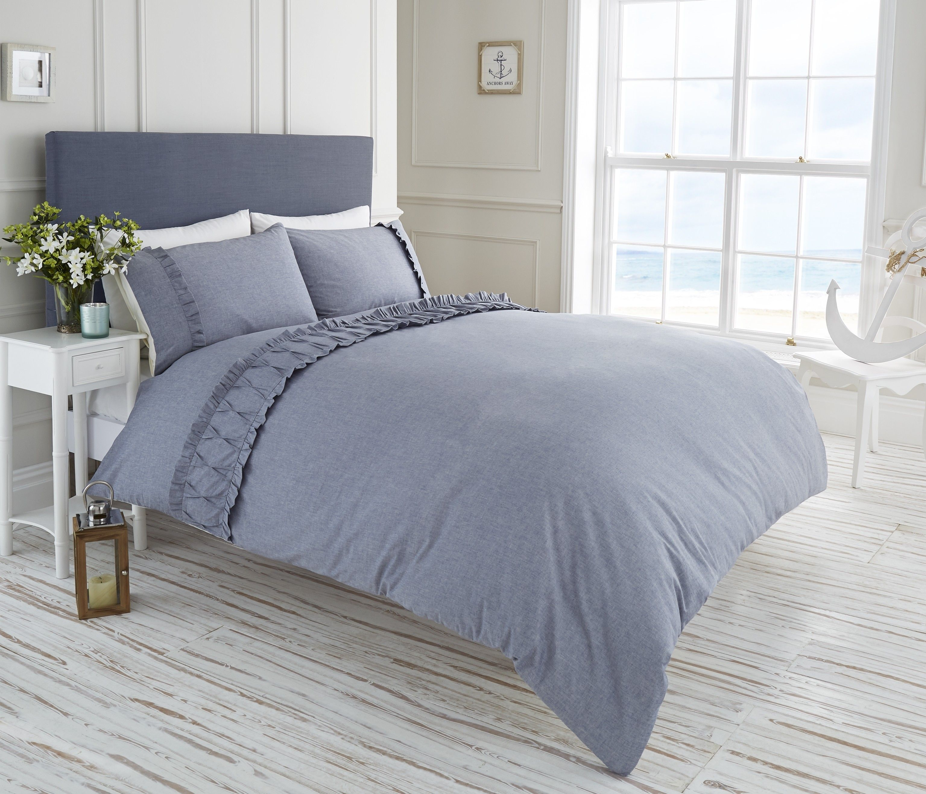 Life From Coloroll Monaco Chambray Duvet Set Denim Ponden Homes Pondenhome Home