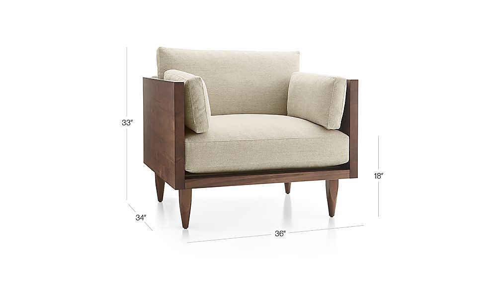 Sherwood Exposed Wood Frame Chair Reviews Crate And Barrel In 2021 Sofa Wood Frame Wood Frame Loveseat Exposed Wood