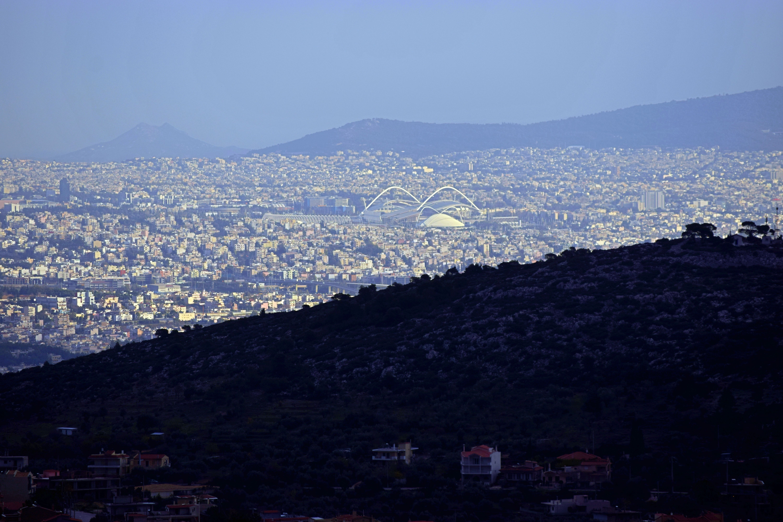 Panoramic View Of City With Blue Sky Panoramic Cityscape Panoramic Views