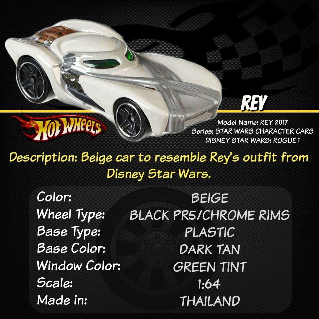 Hot toys car  Hey Hot Wheel collectors and Star Wars fans Check out REY from the