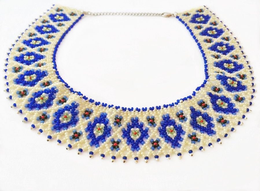 free pattern for necklace magdalena magic seed
