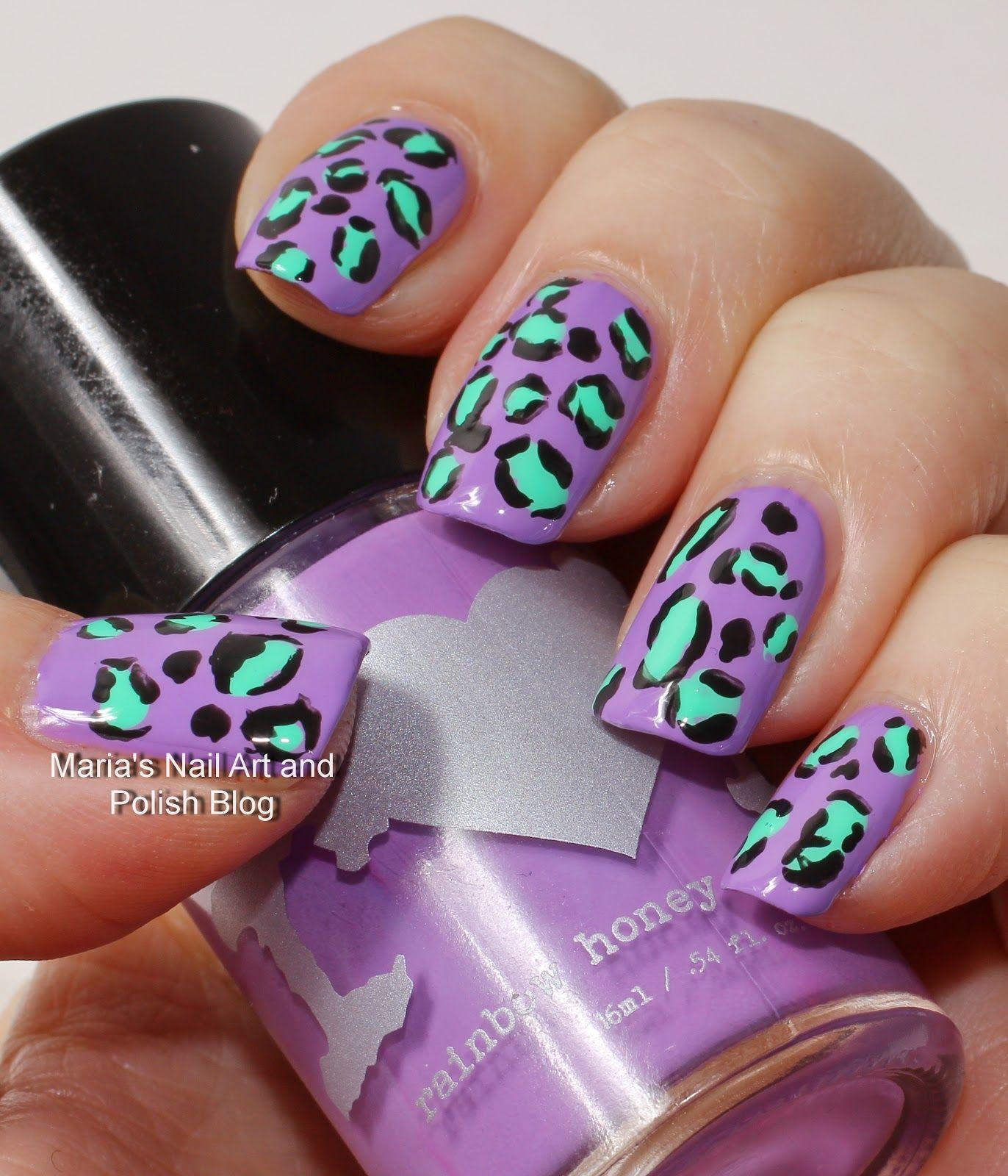 Violas animal print nail art   Dope hairstyles, Nail art blog and ...
