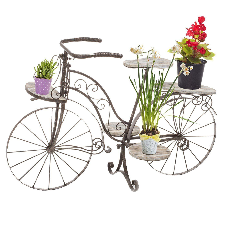velo porte plante decoratif jardiniere