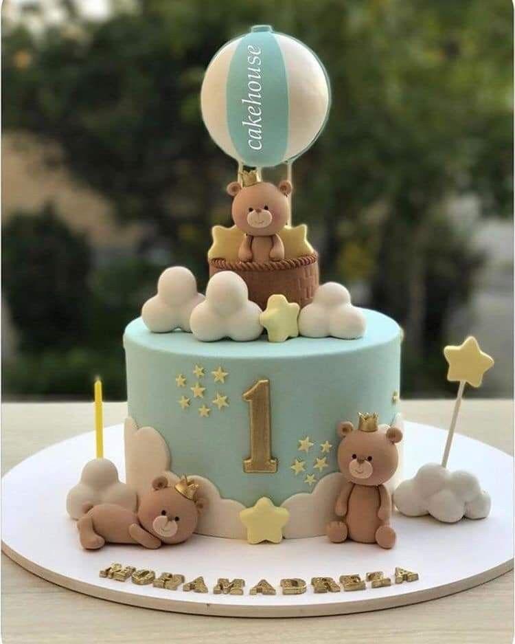 Pin By Giuliana Colombo On Decor Ideas Baby Boy Birthday Cake Baby Birthday Cakes Boys 1st Birthday Cake