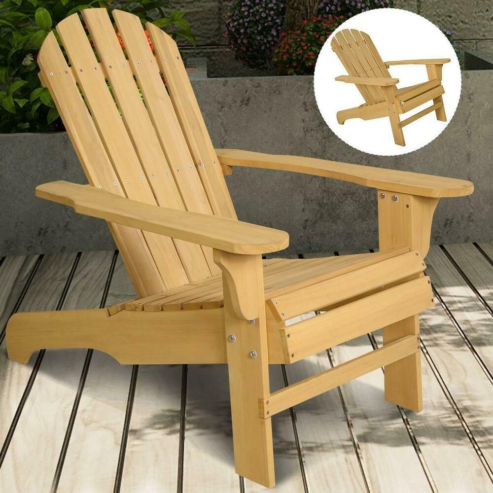 Outdoor Garden Wooden Chair Adirondack Patio Furniture Seat