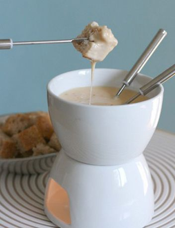 Drink-Related Foods: tequila infused cheese fondue