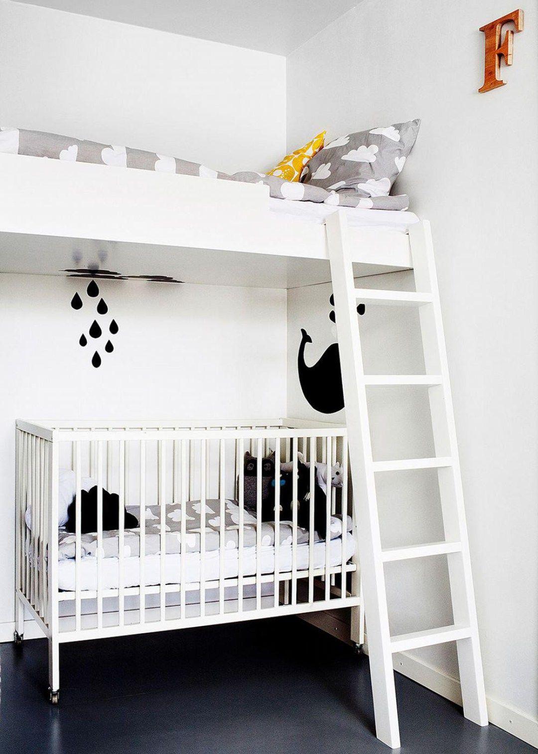 Noir et blanc s 39 invitent dans la chambre d 39 enfant chambre b b chambre enfant inspiration - Chambre d enfant mixte ...