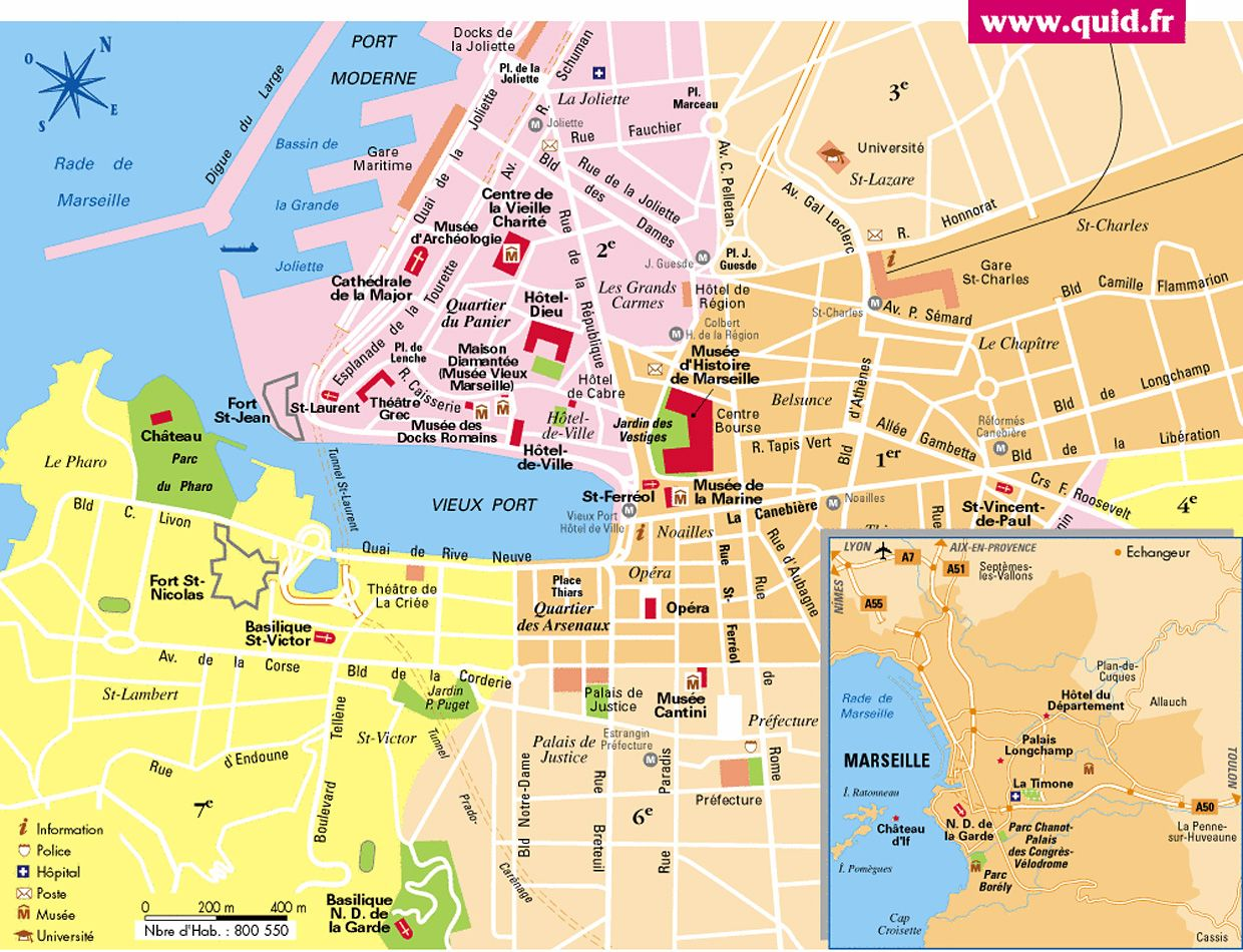 Marseille Tourist Map Marseille France Mappery Tourist Map