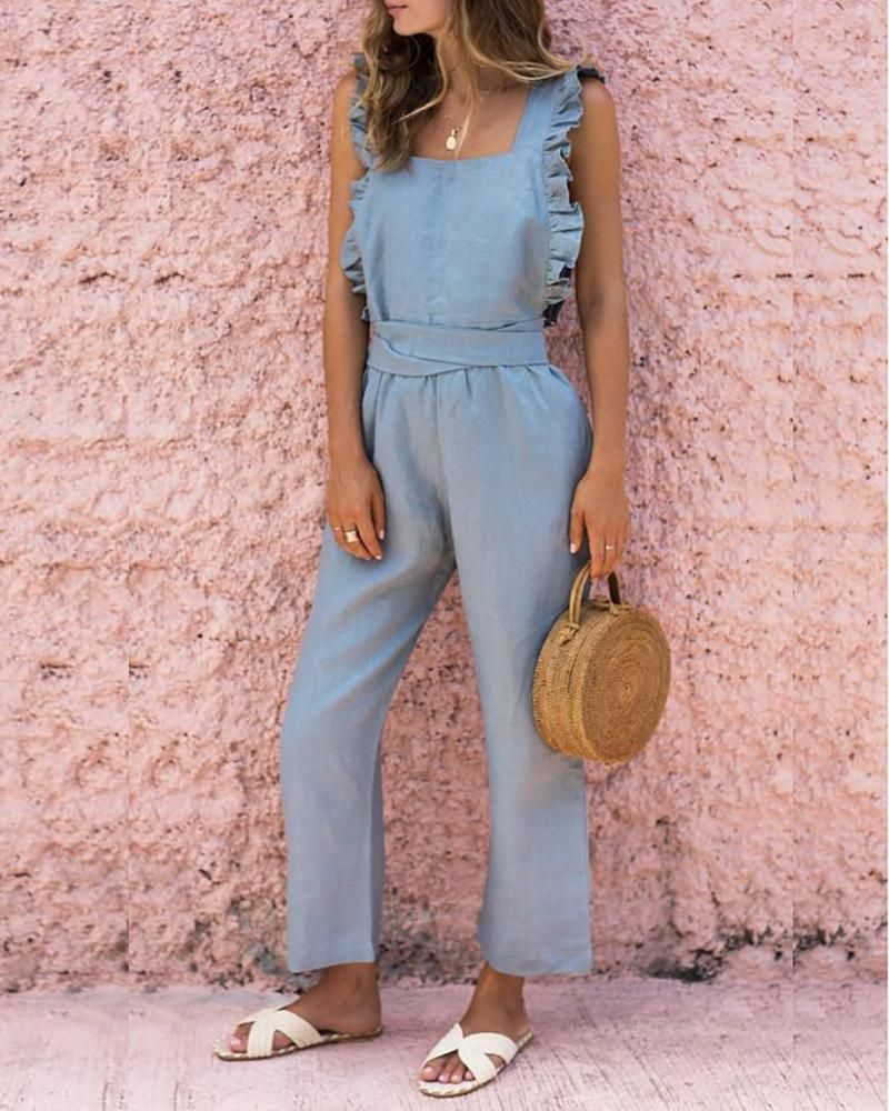 Women's Clothing Hot Sale Womens Summer Cotton And Linen Sexy Sleeveless Jumpsuit Suspenders Casual One Piece Sexy Costumes Romper For Ladies Summer 2019