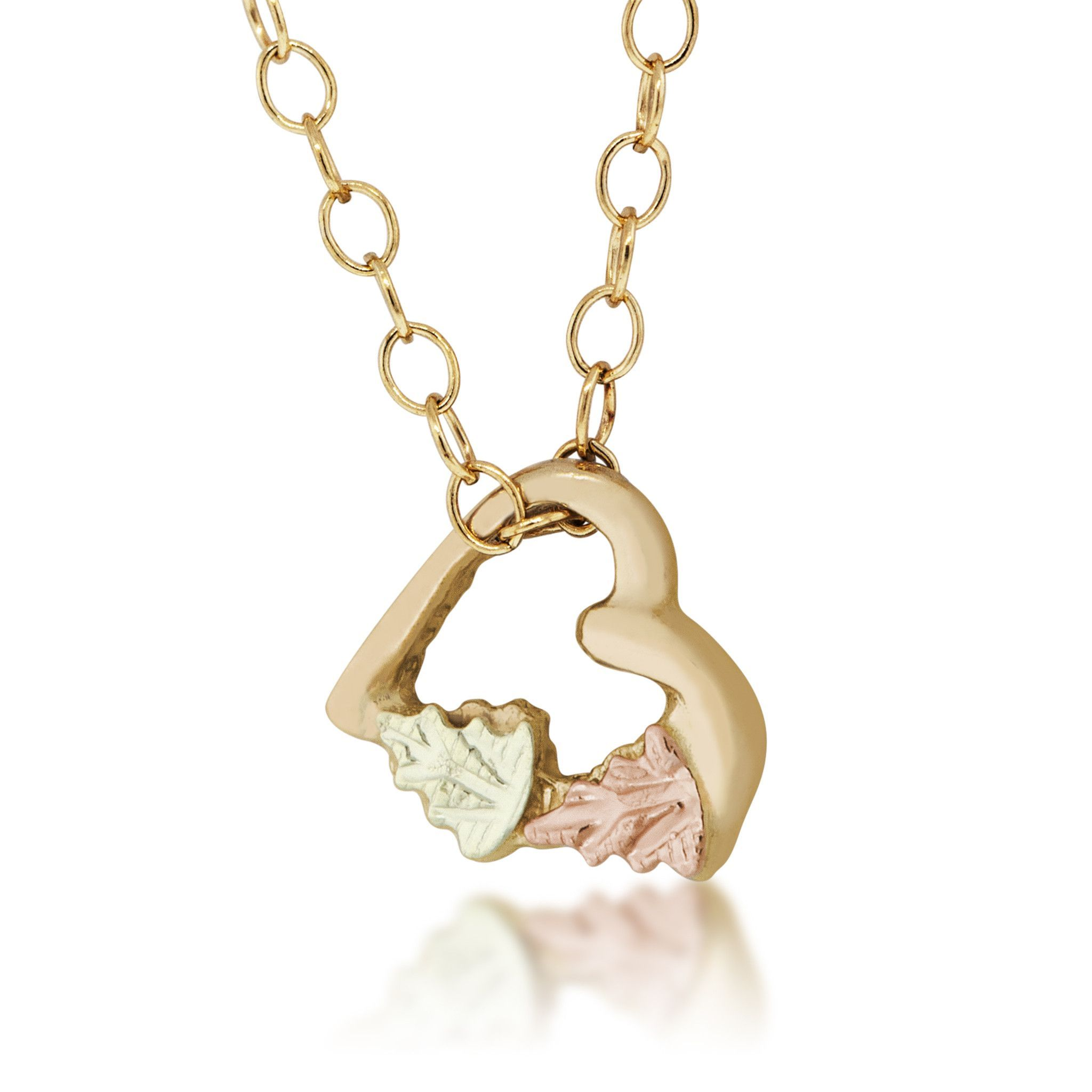 within g collections necklace pendant hills and rose black gold heart dakota glory products fortune