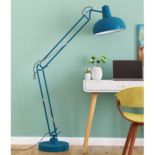 George Oliver Kings Road 170cm Swing Arm Floor Lamp