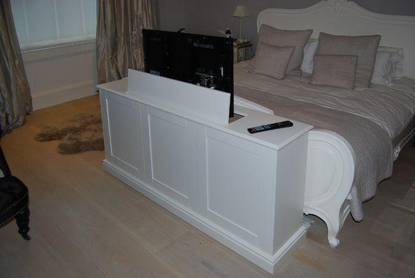 end of bed pop up tv cabinet living room in 2019. Black Bedroom Furniture Sets. Home Design Ideas