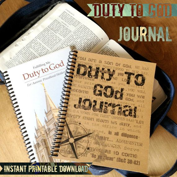 Duty To God Journal - Printable Download | Church | Lds