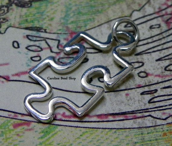 Sterling Silver Autism Awareness Puzzle Piece by carolinabeadshop, $10.50