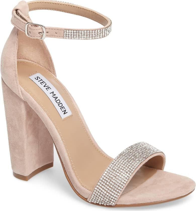 1aee3ab15a3 A minimalist ankle-strap sandal is set on a chunky heel. Steve Madden ...