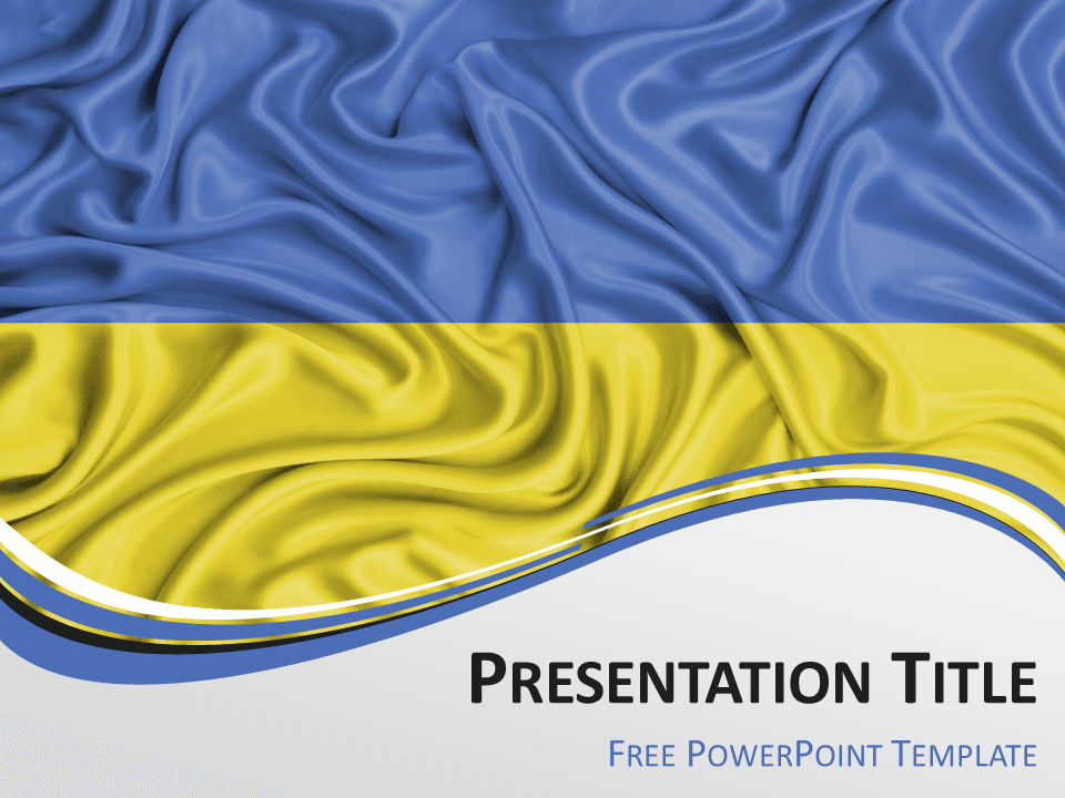 ukraine flag powerpoint template powerpoint flag countries pinterest. Black Bedroom Furniture Sets. Home Design Ideas