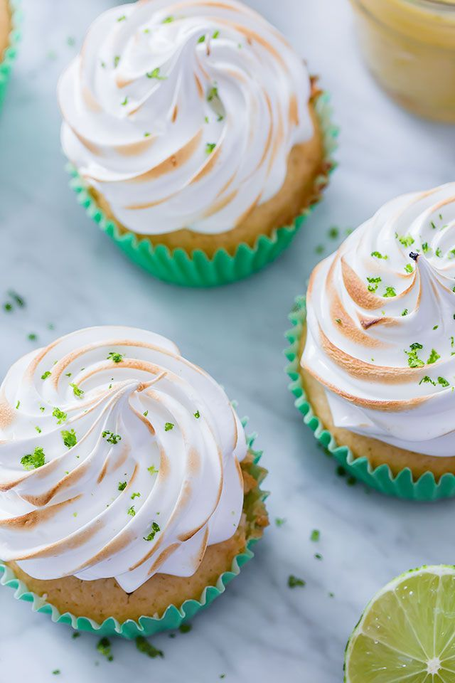 Key Lime Cupcakes with Marshmallow Frosting