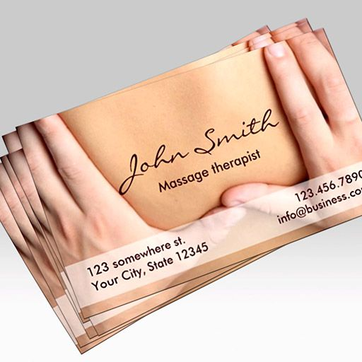 Massage Therapist Appointment Business Card created by cardfactory - sample appointment card template