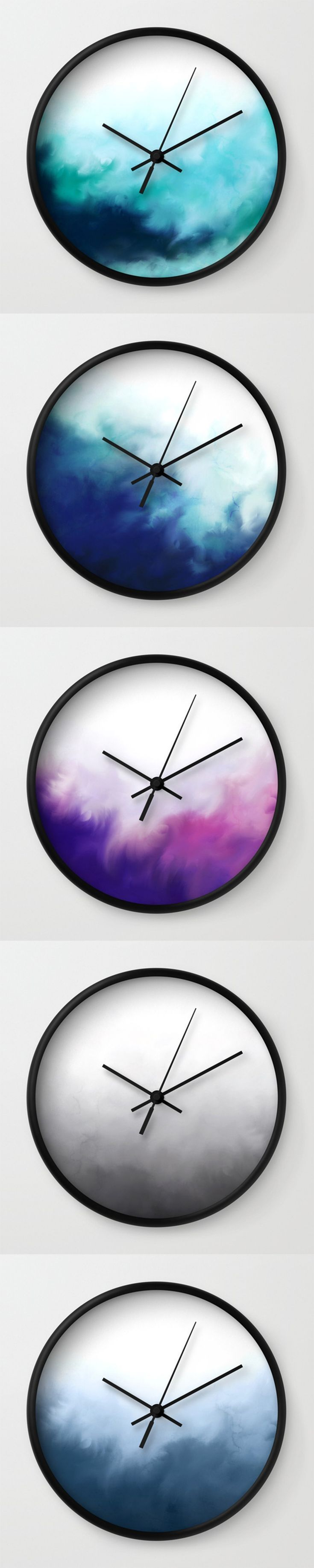 Minimalist Watercolour Wall Clocks   Home Decor, Hanging Clocks, Modern  Designs, Abstract Wall