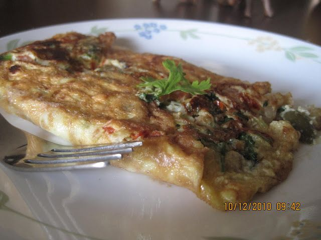 Ruchik Randhap (Delicious Cooking): Special Cheese Omlette with Spring Onions…