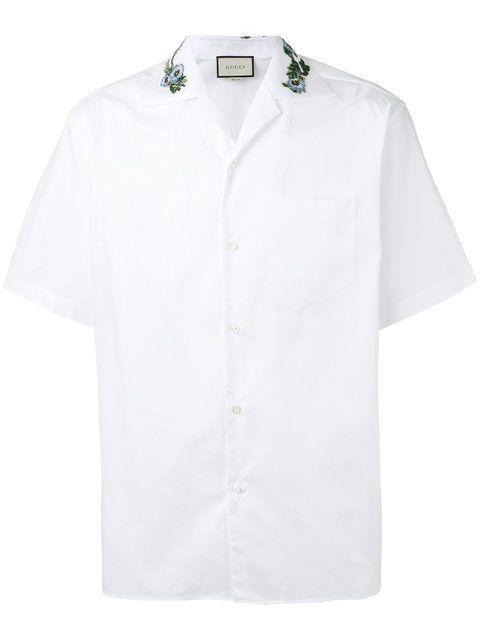 a22934aa22e GUCCI Floral Embroidered Camp Collar Shirt.  gucci  cloth  shirt ...