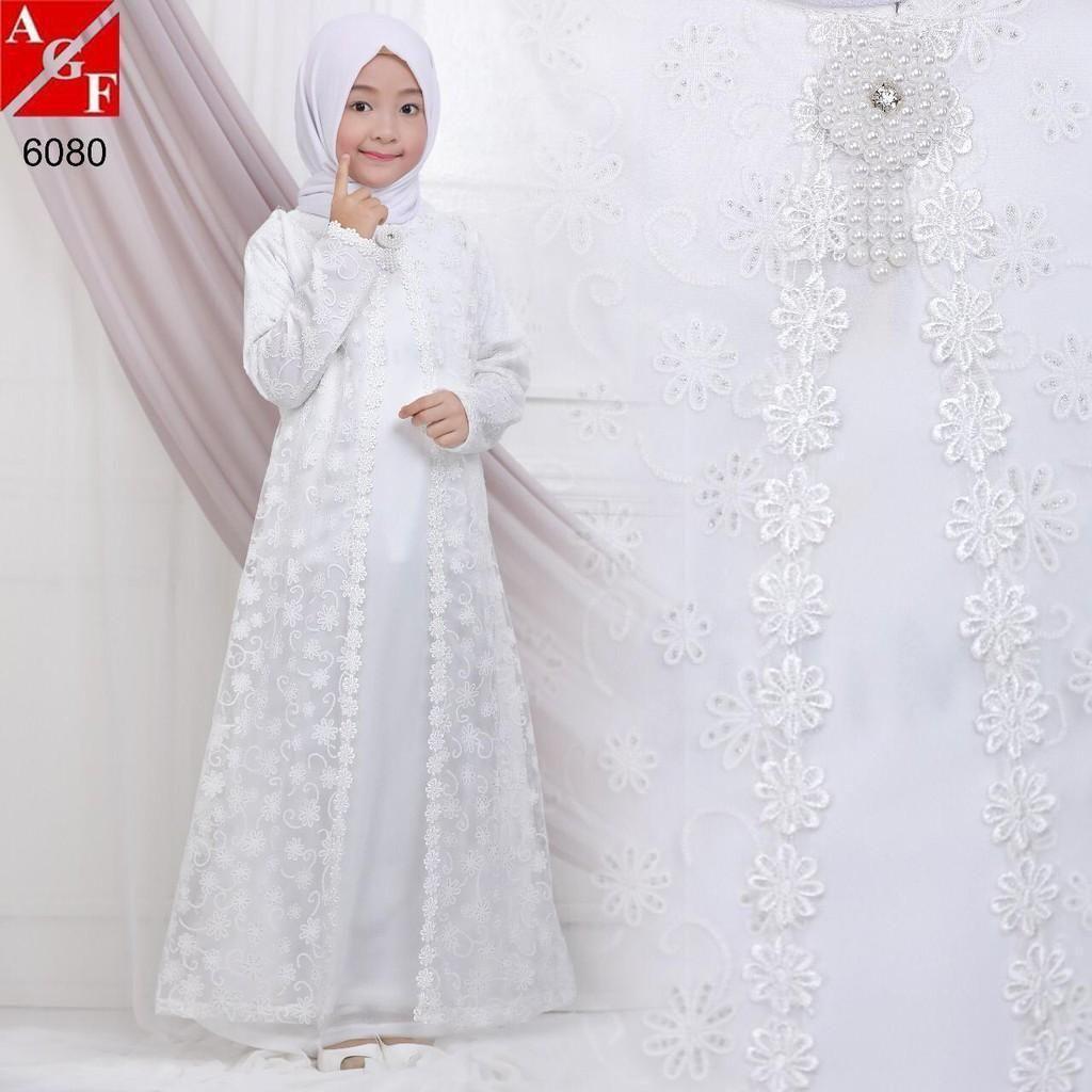 Baju Gamis Brokat Terbaru 2019 Dan Harganya Baju Muslim Anak Perempuan Muslim