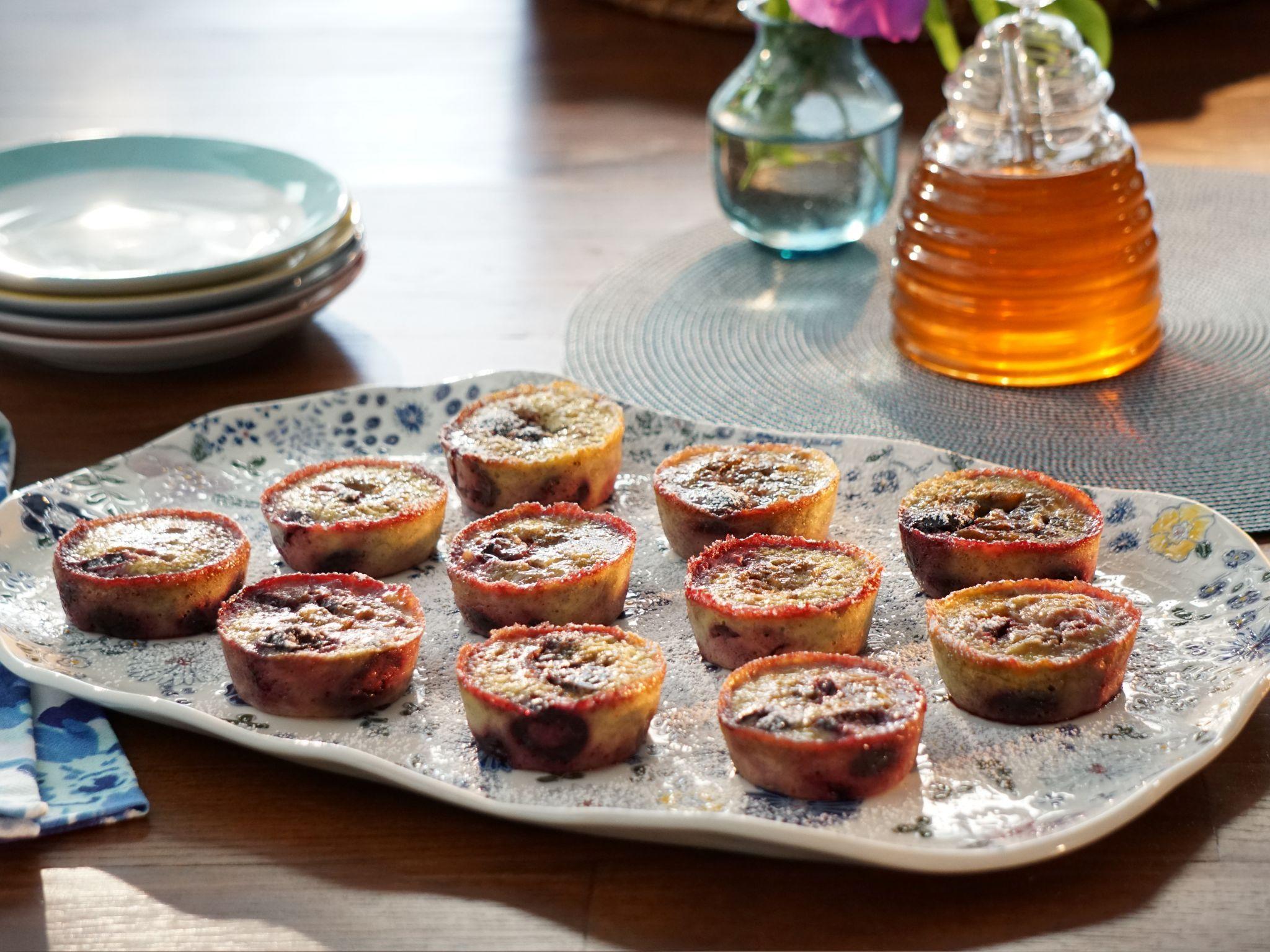 Banana Cherry Custard Muffins Recipe Food Network Recipes Food Muffin Recipes