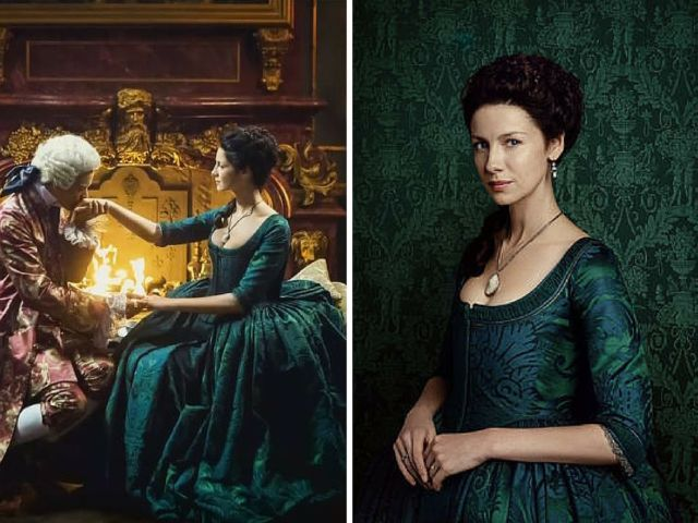 The 18 Best Costumes from 'Outlander' Season 2 - emerald gown