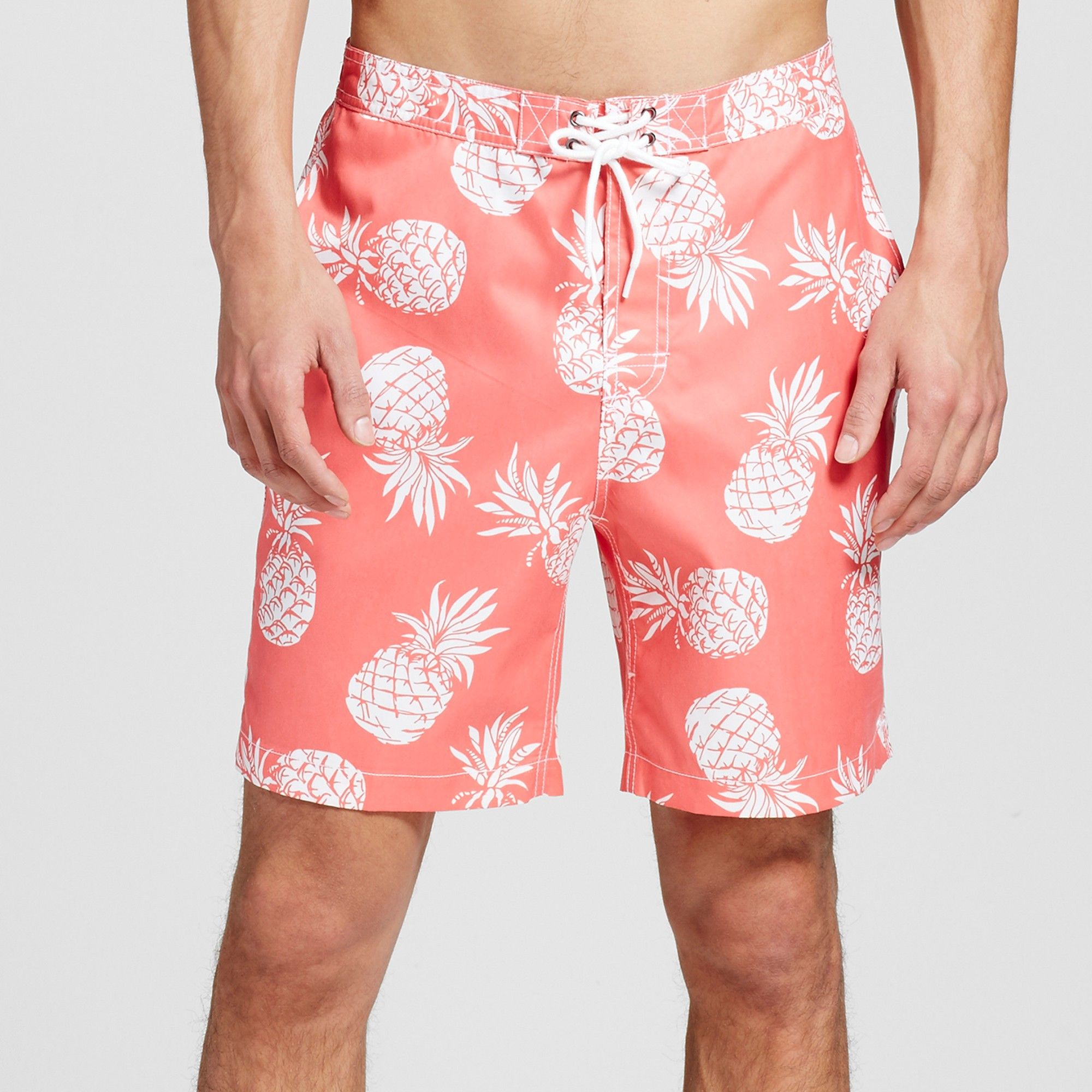 90a8d248c2 Men's Pineapple Swim Trunks Coral Xxl - Trunks Surf & Swim, Red ...