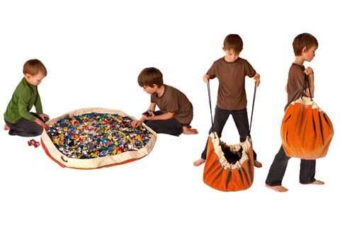 The Spoon Sisters--Swoop Storage Bag & Play Mat-in-One.  Need this for the zillions of Legos that are taking over my house.